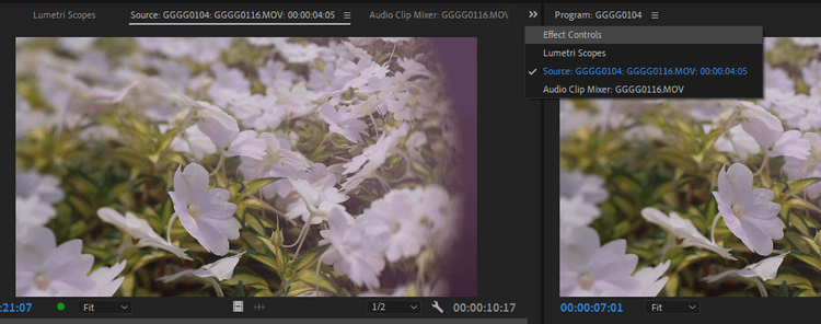 Các hiệu ứng đã sửa trong Adobe Premiere Pro