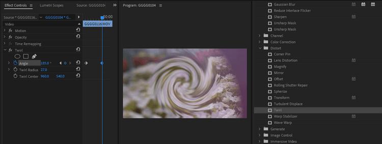 Kết hợp các hiệu ứng trong Premiere Pro
