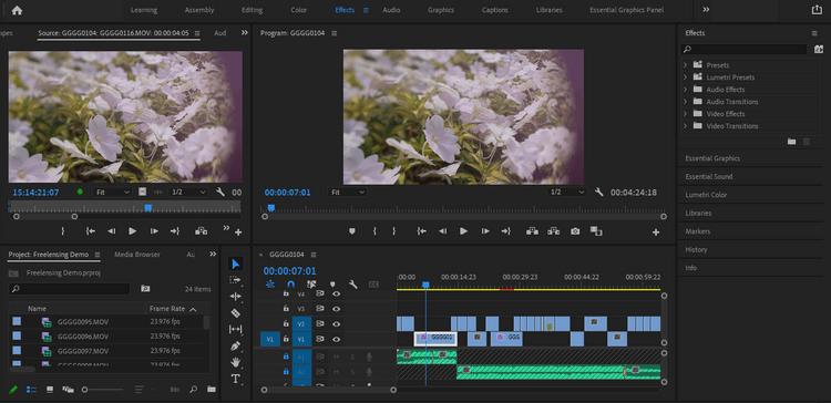 Hiệu ứng trong Adobe Premiere Pro