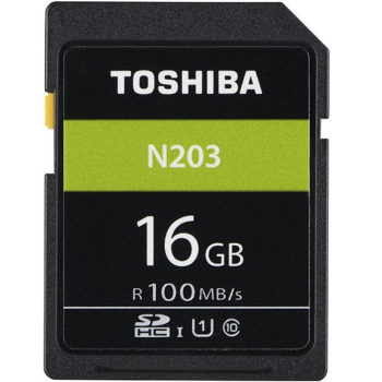 Toshiba SDHC Memory Card 16Gb 100MB/s – N203