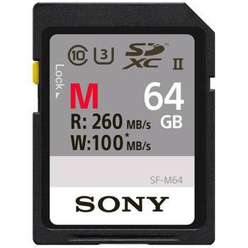 Sony 64GB SDXC UHS-II Memory Card 260MB/s (SF-M64T)