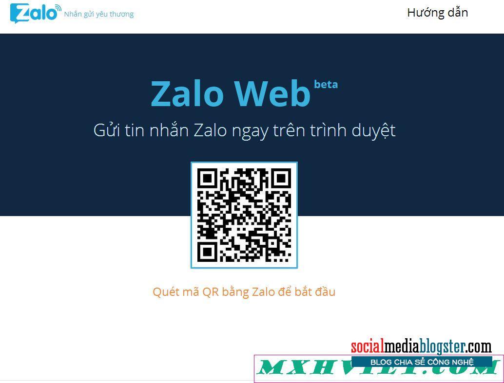 quét mã QR Mã đăng nhập zalo