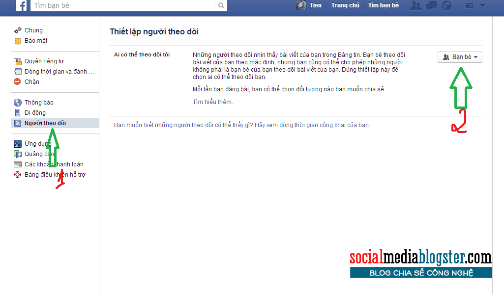 ẩn nút theo dõi trên facebook