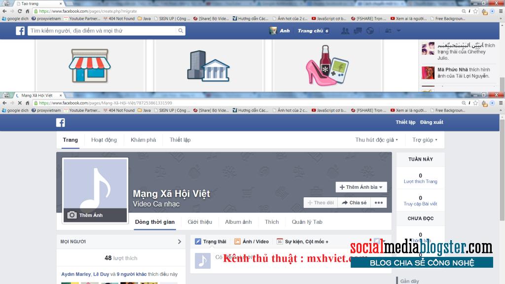Chuyển đổi facebook thành fanpage