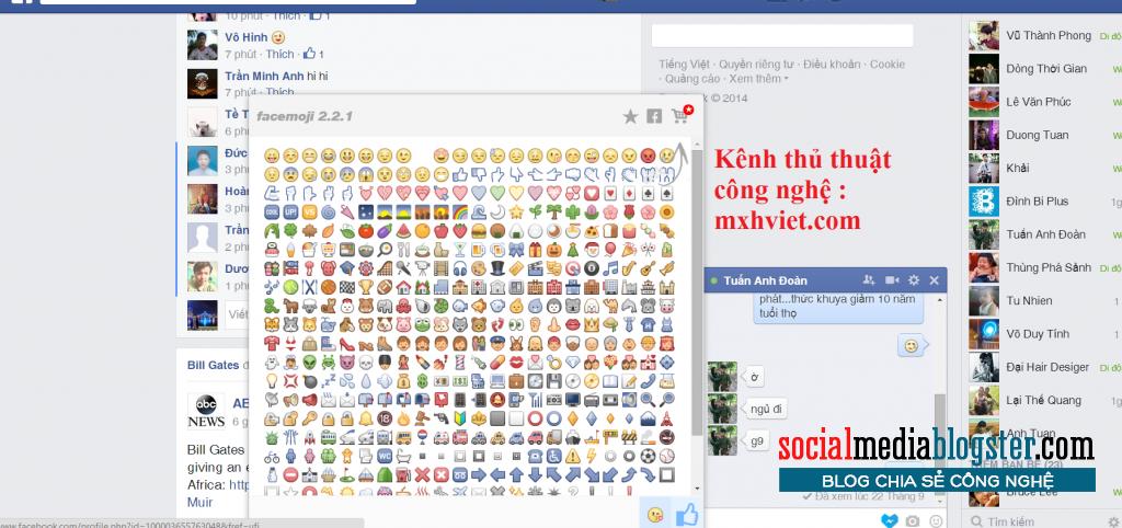 Biểu tượng hộp trò chuyện trên Facebook