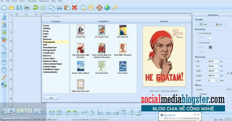 phần mềm thiết kế poster2