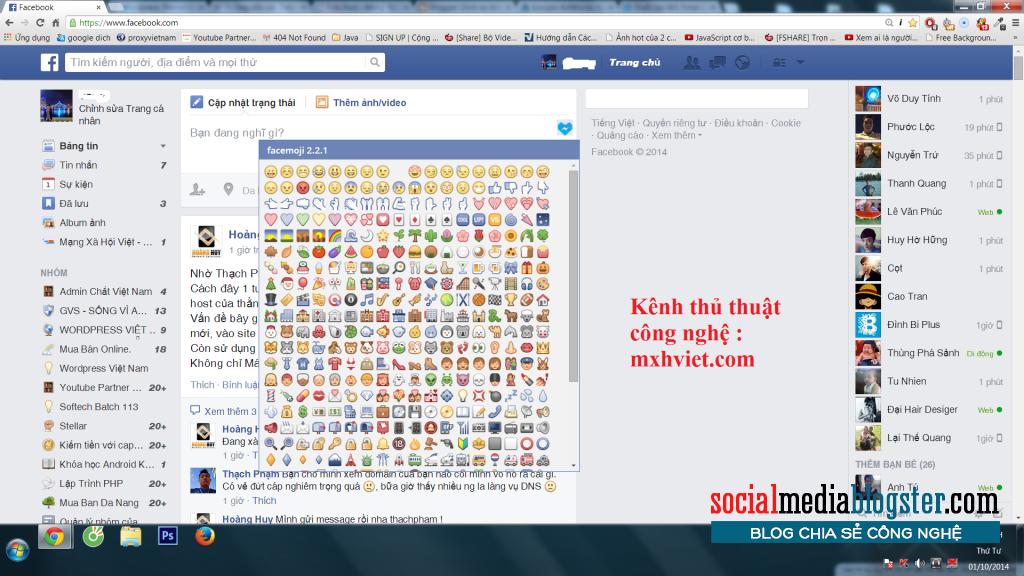 Biểu tượng trò chuyện trên Facebook