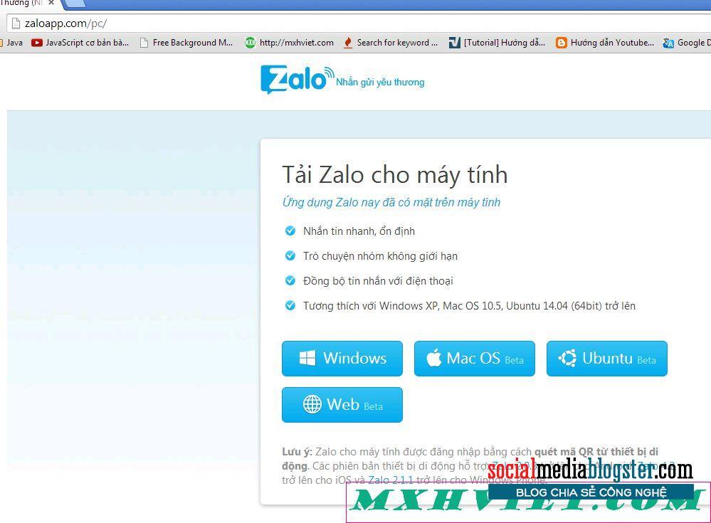 Sử dụng ZaloWeb trong trình duyệt