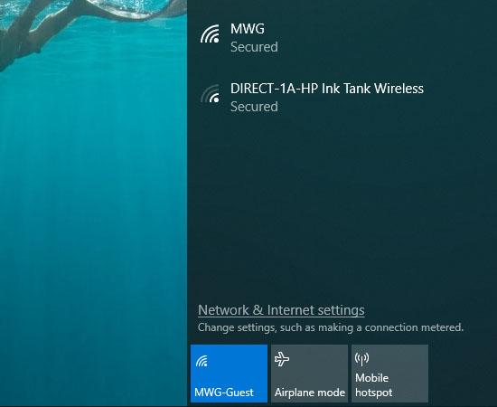 Sau khi tắt chế độ máy bay, bạn có thể kết nối lại với Wifi.