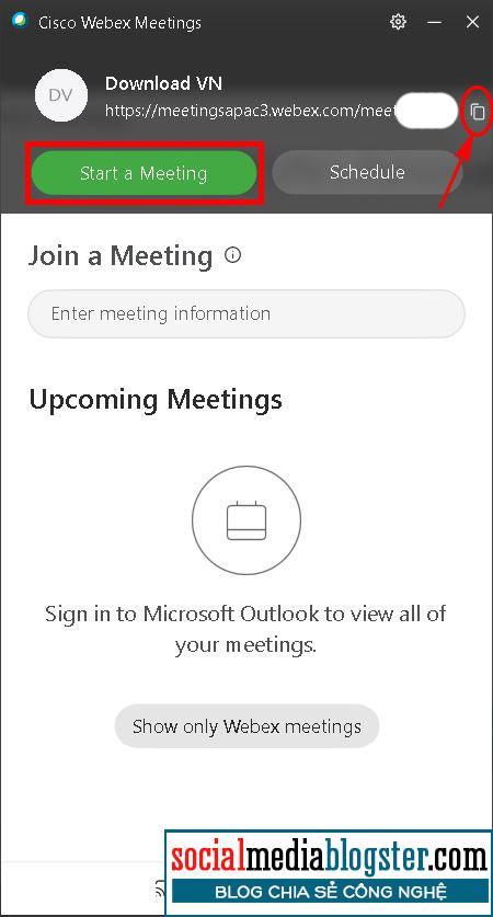 Start cuộc họp