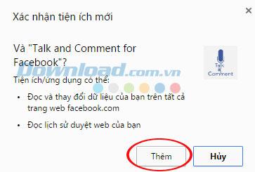 Nhận xét bằng giọng nói và tin nhắn thoại trên Facebook với Chrome