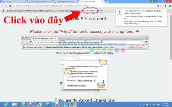 Gửi tin nhắn thoại và nhận xét bằng giọng nói trên Facebook bằng Chrome