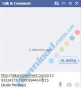 Nhận xét bằng âm thanh, gửi tin nhắn thoại Facebook bằng Chrome