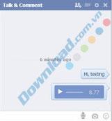 Nhận xét âm thanh và gửi tin nhắn thoại trên facebook