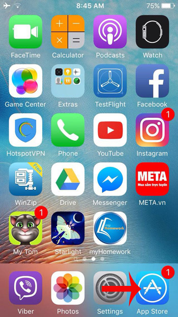 Đi tới App Store