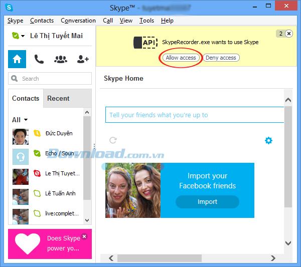 Hướng dẫn ghi âm cuộc gọi thoại trên Skype