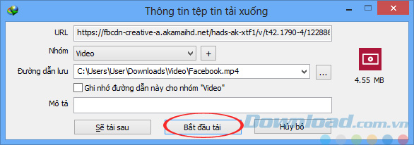 Tải Video Facebook về máy tính của bạn