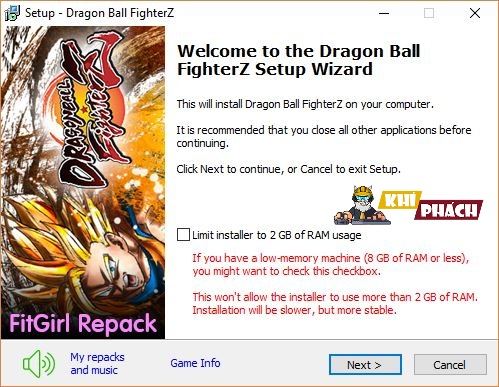 Hướng dẫn cài đặt game Dragon Ball FighterZ