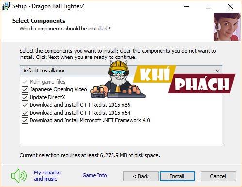 Cài đặt phần mềm cần thiết để chơi game Dragon Ball FighterZ