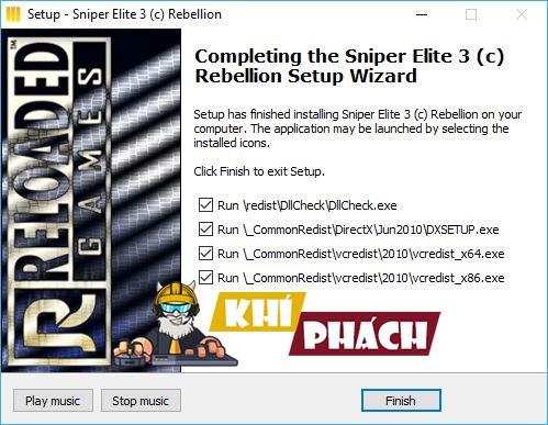 Cần cài đặt phần mềm để chơi game Sniper Elite 3