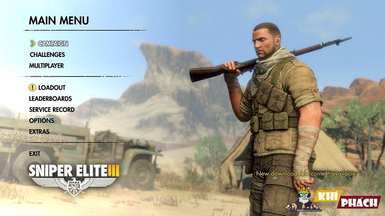 Game chiến đấu Sniper Elite 3 với Khí Pháp
