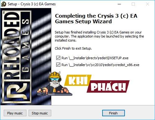 Cài đặt phần mềm cần thiết để chơi Game Crysis 3