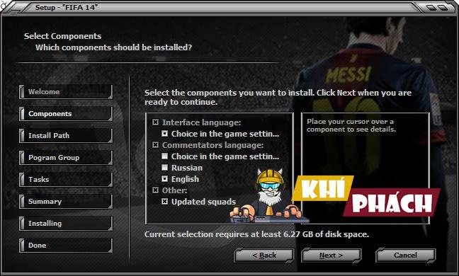 Hướng dẫn cài game Fifa 14 Full cho PC