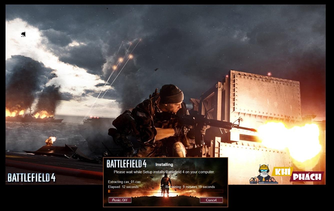 Quá trình cài đặt Battlefield 4 đang diễn ra