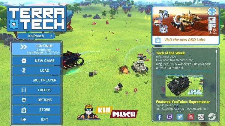 Hãy chiến đấu với TerraTech nào các bạn !!!