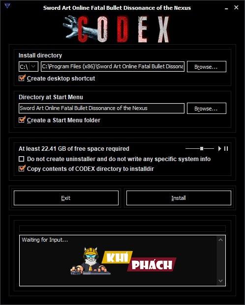 Hướng dẫn cài Sword Art Online: Fatal Bullet Full cho PC