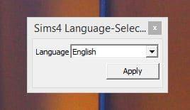 Chọn ngôn ngữ tiếng Anh cho The Sims