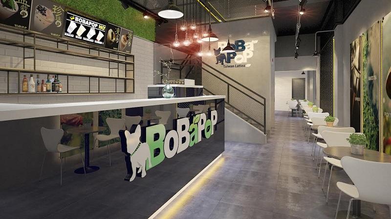 Bobapop luôn có một không gian được thiết kế trang nhã và hiện đại