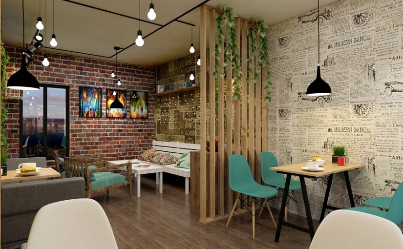 Quang cảnh quán cà phê đẹp hiện đại
