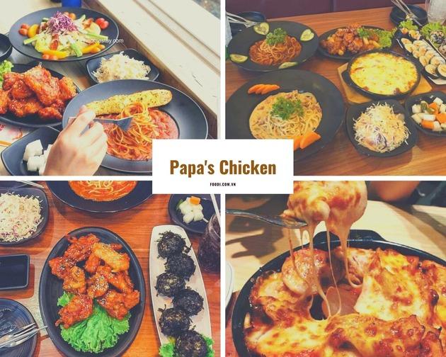 Papa's Chicken: Đánh giá về nhà hàng gà rán Hàn Quốc ngon nhất