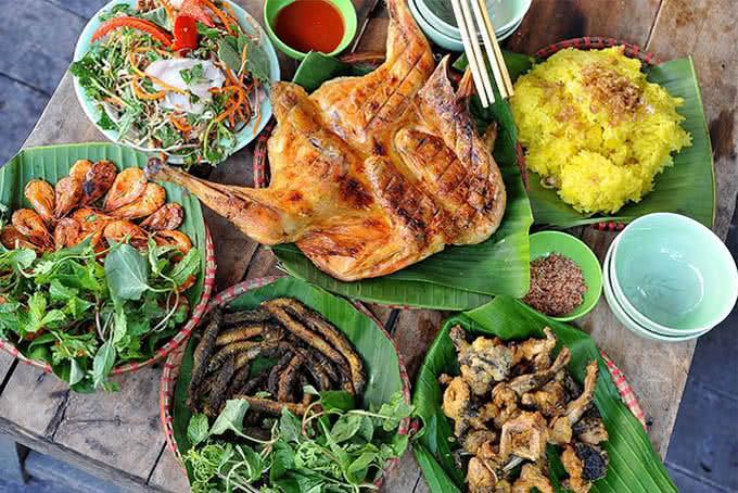 Các món ăn đồng quê tại Ao Quán