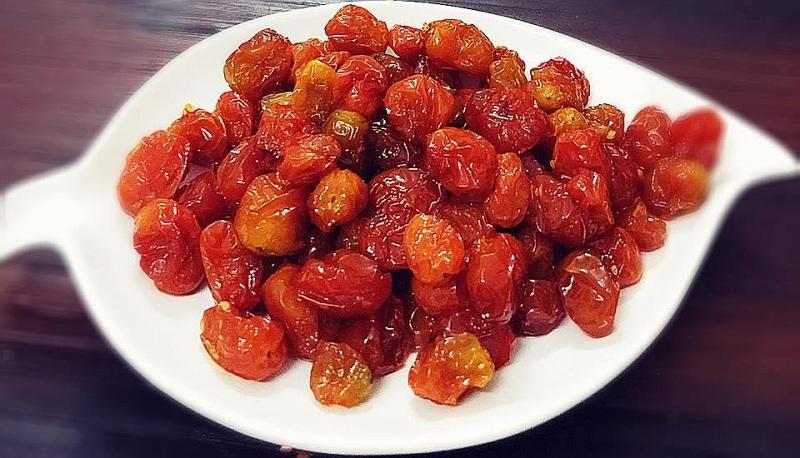 Bảo quản mứt cà chua bi đúng cách để dùng được lâu.
