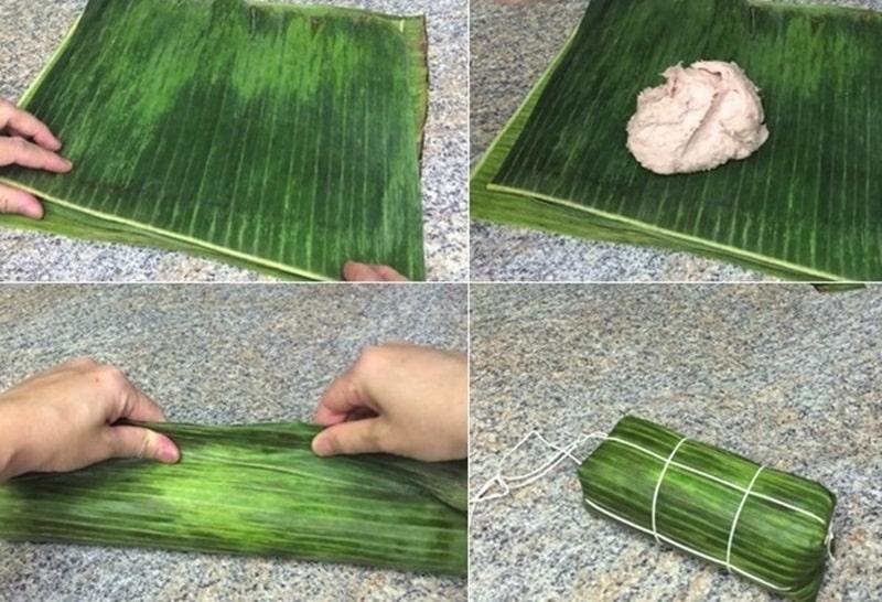 Chi tiết cách gói thịt băm làm giò chả