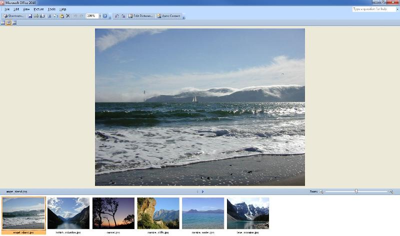 Picture Manager 2010 hoạt động với Office 2013