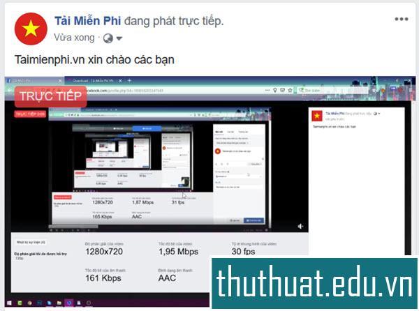 quay video màn hình máy tính laptop lên facebook