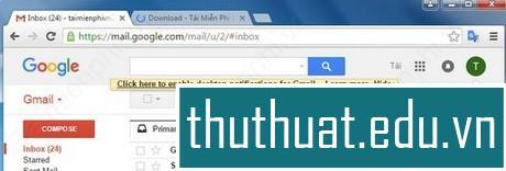 thêm gmail vào gmail