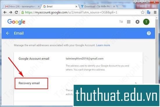 thêm bằng cách sử dụng địa chỉ email