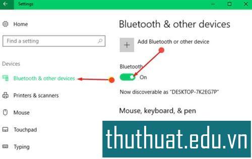 Kết nối các kết nối và kết nối Bluetooth trên Windows 10 3