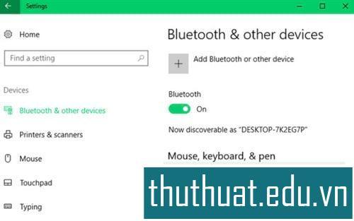 Kết nối các kết nối và kết nối Bluetooth trên Windows 10 7