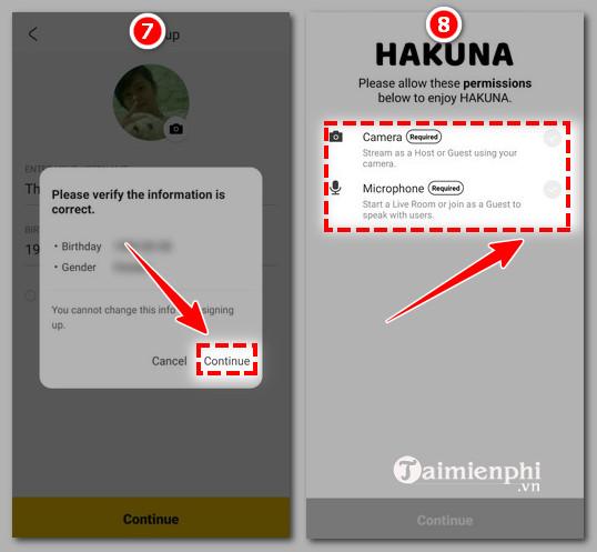 Cách đăng ký tài khoản hakuna trực tiếp