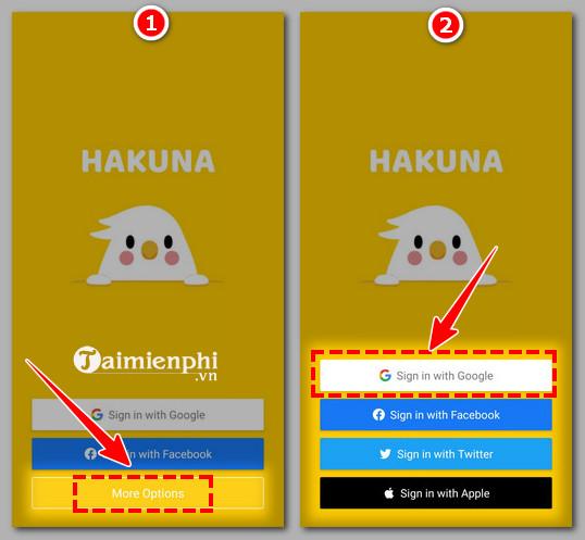 Cách tạo tài khoản hakuna trực tiếp