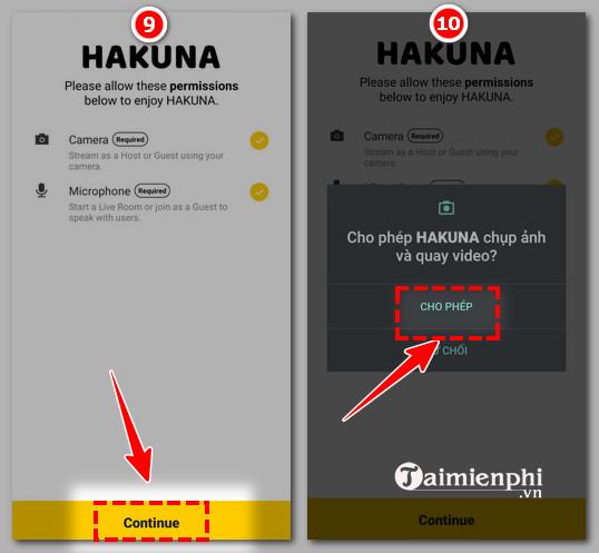 làm thế nào để đăng ký hakuna trực tiếp