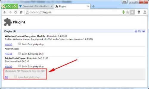 Hoàn thiện khả năng xem PDF trên coc