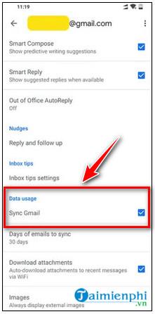 gmail không được phép chấp nhận