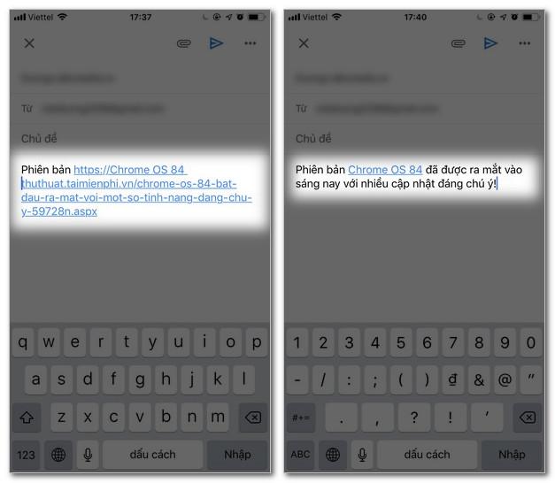 cách tạo siêu liên kết trong gmail 5