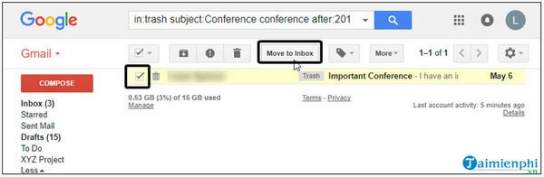 Làm thế nào để khôi phục tin nhắn trên gmail mà không bị chậm trễ?